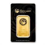 50 gram Perth Mint Gold Bar .9999 Fine (In Assay)