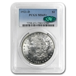 1921-D Morgan Dollar - MS-65+ Plus PCGS - CAC