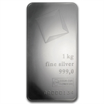 1000 gram Kilo Valcambi Suisse Silver Bar (With Assay) .999 Fine