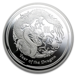 2012 Year of the Dragon - 5 oz Proof Silver Coin (SII) PCGS PR-69