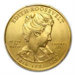 2013-W 1/2 oz Uncirculated Edith Roosevelt PCGS MS-70 FS