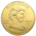2013-W 1/2 oz Uncirculated Ellen Wilson PCGS MS-70 FS