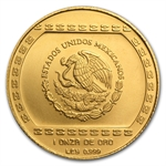 Mexico 1993 100 Pesos 1 oz Gold Hacha (Brilliant Uncirculated)