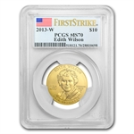 2013-W 1/2 oz Uncirculated Edith Wilson MS-70 FS PCGS