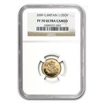 Great Britain 2009 Gold 1/2 Sovereign PF-70 UCAM NGC