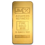 10 oz Johnson Matthey Gold Bar (TD Bank) .9999 Fine