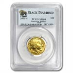 2008-W 1/4 oz Gold Buffalo MS-69 PCGS (Black Diamond)