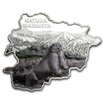 Andorra 2013 Proof Silver Nature Treasure Map Shaped - Marmot