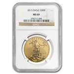 1986-2013 1 oz Gold Eagle Complete 28 Coin Collection NGC MS-69