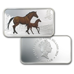 2014 1 oz Proof Silver Rectangle Year of the Horse 4 Coin Set