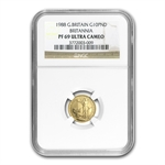 1988 1/10 oz Proof Gold Britannia PF-69 UCAM NGC