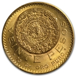 Mexico 1920/10 20 Pesos Gold PCGS MS-64