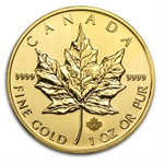 2014 1 oz Gold Canadian Maple Leaf (Dec 18th)