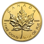2014 1/2 oz Gold Canadian Maple Leaf