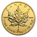 2014 1/10 oz Gold Canadian Maple Leaf