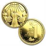 2010-12 Israel Biblical Art Series-Smallest Gold Coins 3-Coin Set
