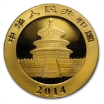2014 1/20 oz Gold Chinese Panda (Sealed)