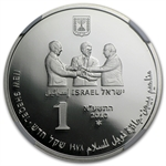 2010 Israel Menachem Begin Silver 1 NIS MS-69 NGC