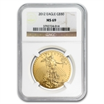 2012 1 oz Gold American Eagle MS-69 NGC