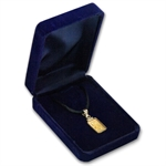 1 gram Pamp Suisse Gold Bar Pendant w/ Satin Necklace
