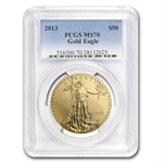 2013 1 oz Gold American Eagle MS-70 PCGS