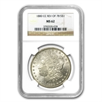 1880-CC Morgan Dollar - Reverse of 1878 MS-62 NGC