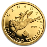 2006 1/25 oz Gold Canadian $0.50 Proof - Cowboy