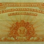 1907 $10.00 Gold Certificate (Very Fine+)
