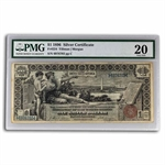 Series 1896 $1 Silver Certificate Educational (PMG VF-20)