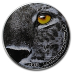 Congo Republic 2 oz 2013 Nature's Eyes - Amur Leopard (Panthera)