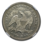1869 Liberty Seated Dollar Almost Uncirculated-55 NGC