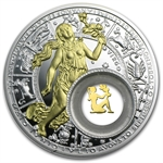 Belarus 2013 Silver Proof 20 Rubles Zodiac Signs - Virgo