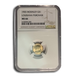 1903 $1.00 Gold Louisiana Purchase - McKinley MS-66 NGC