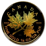 2001 1/4 oz Hologram Gold Canadian Maple Leaf MS-68 NGC