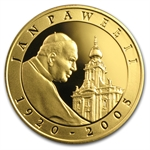 Poland 2005 10 Zlotlych Silver Pope John Paul II Proof