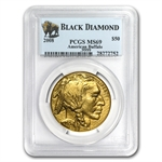 2008 1 oz Gold Buffalo MS-69 PCGS (Black Diamond)