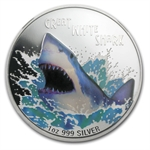 2007 1 oz Proof Silver Great White Shark NGC PF-69 UCAM