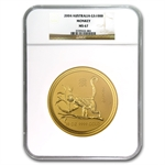 2004 10 oz Gold Year of the Monkey Lunar Coin (SI) NGC MS-67