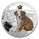 Fiji 2013 Silver Dogs&Cats Series-Great Protector-English Bulldog