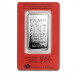 1 oz Pamp Suisse Silver Bar - True Happiness