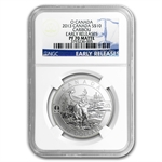 2013 1/2 oz Silver Canadian $10 The Caribou PF-70 Matte NGC - ER