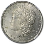 1878 Morgan Dollar - 8 Tailfeathers MS-63 NGC - VAM-14.3