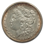1889-CC Morgan Dollar - Almost Uncirculated-50 PCGS