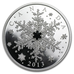 2013 1 oz Silver Canadian $20 Swarovski Crystal Winter Snowflake
