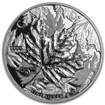 2013 1 oz HR Piedfort Silver - 25th Anniversary of the Maple Leaf