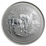 2014 1 oz Silver Year of the Horse Coin (SII) PCGS MS-70 (FS)