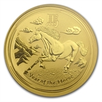 2014 1 oz Gold Lunar Year of the Horse (SII) MS-70 PCGS (FS)