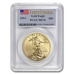 2014 1 oz Gold American Eagle MS-70 PCGS First Strike (Jan 24th)