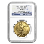 2014 1 oz Gold American Eagle MS-70 NGC Early Releases