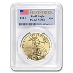 2014 1 oz Gold American Eagle MS-69 PCGS First Strike